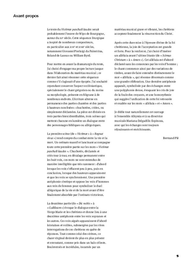 Victimæ Paschalis Laudes, extrait 5