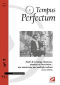 (couverture de Paule de Lestang, chanteuse, pianiste et claveciniste: une musicienne aux multiples talents)