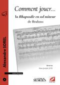 (couverture de La Rhapsodie en sol mineur de Brahms)