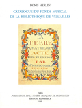 (couverture de Catalogue du fonds musical de la bibliothèque de Versailles)