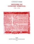 (couverture de Histoire du Concert spirituel)