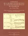 couverture de Catalogue de la musique instrumentale du Collegium Wilhelmitanum de Strasbourg