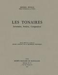 couverture de Les Tonaires: inventaire, analyse, comparaison