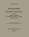 couverture de Bibliographie des éditions musicales publiées par Estienne Roger et Michel-Charles Le Cène