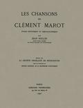 couverture de Les Chansons de Clément Marot