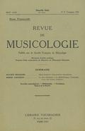 couverture de Revue de musicologie, t. 27/2 (1945)
