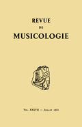 (couverture de Revue de musicologie, t. 37/1 (1955))