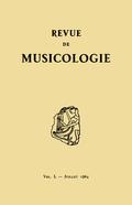 (couverture de Revue de musicologie, t. 50/1 (1964))
