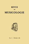 (couverture de Revue de musicologie, t. 50/2 (1964))