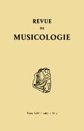 (couverture de Revue de musicologie, t. 53/2 (1967))
