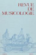 couverture de Revue de musicologie, t. 65/1 (1979)