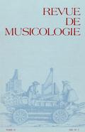 (couverture de Revue de musicologie, t. 67/2 (1981))