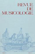 (couverture de Revue de musicologie, t. 70/1 (1984))