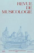 (couverture de Revue de musicologie, t. 84/2 (1998))