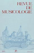 (couverture de Revue de musicologie, t. 93/1 (2007))