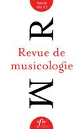 (couverture de Revue de musicologie, t. 96/2 (2010))