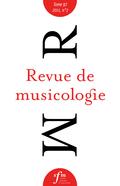 (couverture de Revue de musicologie, t. 97/2 (2011))