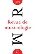 couverture de Revue de musicologie, t. 100/1 (2014)