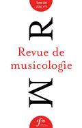 (couverture de Revue de musicologie, t. 100/2 (2014))