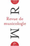 (couverture de Revue de musicologie, t. 103/1 (2017))
