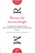 (couverture de Revue de musicologie, t. 103/2 (2017))