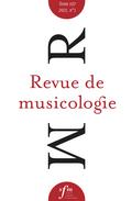 (couverture de Revue de musicologie, t. 107/1 (2021))