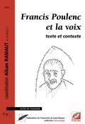 (couverture de Francis Poulenc et la voix)