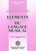 couverture de Éléments solfégiques et harmoniques du langage musical
