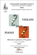 (couverture de Duo violon-piano)