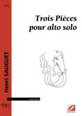 (couverture de Trois Pièces pour alto solo)