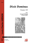 (couverture de Dixit Dominus)