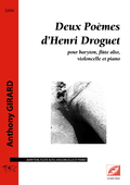 (couverture de Deux Poèmes d'Henri Droguet)