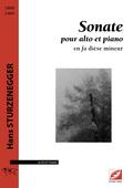 (couverture de Sonate pour alto et piano)