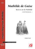 (couverture de Récit et air de Mathilde extrait de Mathilde de Guise)