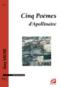(couverture de Cinq Poèmes d'Apollinaire)