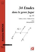 couverture de 34 Études dans le genre fugué op. 97