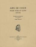 couverture de Airs de cour pour voix et luth