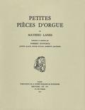 couverture de Petites pièces d'orgue
