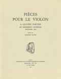 (couverture de Pièces pour le violon à quatre parties de différents autheurs)