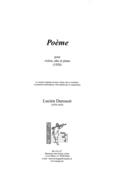 couverture de Poème
