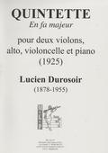 couverture de Quintette en fa majeur pour cordes et piano