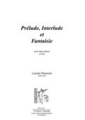 (couverture de Prélude, Interlude et Fantaisie)