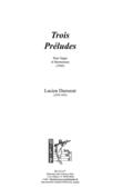 (couverture de Trois Préludes)