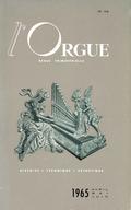 (couverture de Alexandre Guilmant — Deux instruments nouveaux — La reconstruction de l'orgue de la cathédrale Saint-Théodorite d'Uzès — Les orgues de la basilique Saint-Vincent, à Metz (I) — Un voyage en Russie)