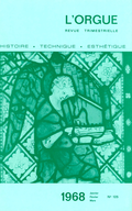 (couverture de L'orgue de Wierde (Belgique) — Le problème de la restauration de l'orgue de la cathédrale de Bordeaux — La musique dans les pays de l'Est: impressions de voyage (1967))