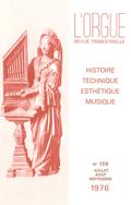 (couverture de La restauration de l'orgue de Montauroux — L'orgue en Finlande — Thiébaut Maucourt, facteur d'orgues à Albi — Un grand musicien ariégeois méconnu: Albert Perilhou)