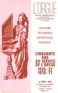 (couverture de Cinquante ans au service de l'orgue (1926-1976))