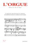 (couverture de La création organistique au féminin: de Joséphine Boulay à Marie-Louise Girod)