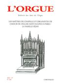 (couverture de Les maîtres de chapelle et organistes de chœur de l'église Saint-sulpice à Paris — La famille Séjan)