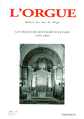 (couverture de Les orgues de Saint-Martin de Paris (1855-2002))
